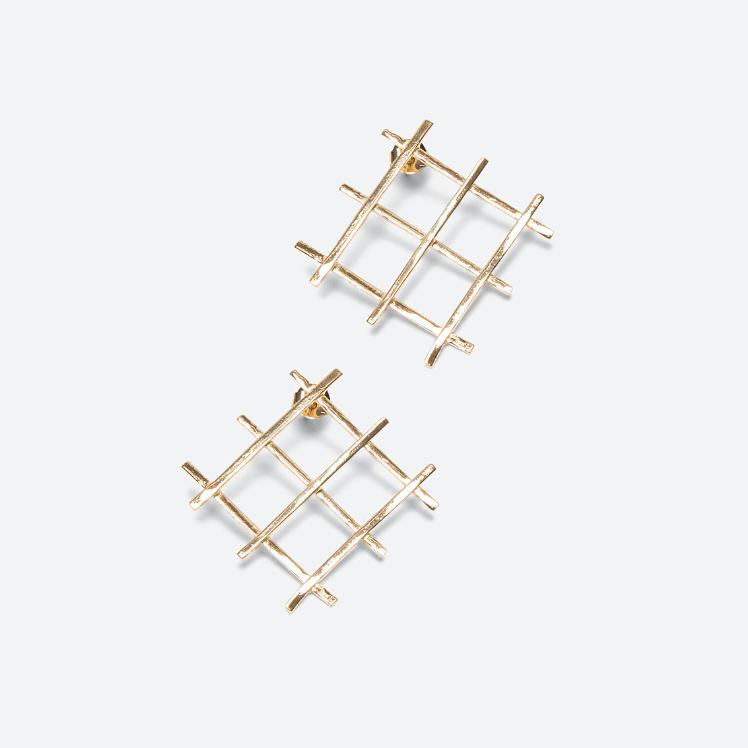 Grid Earrings 1