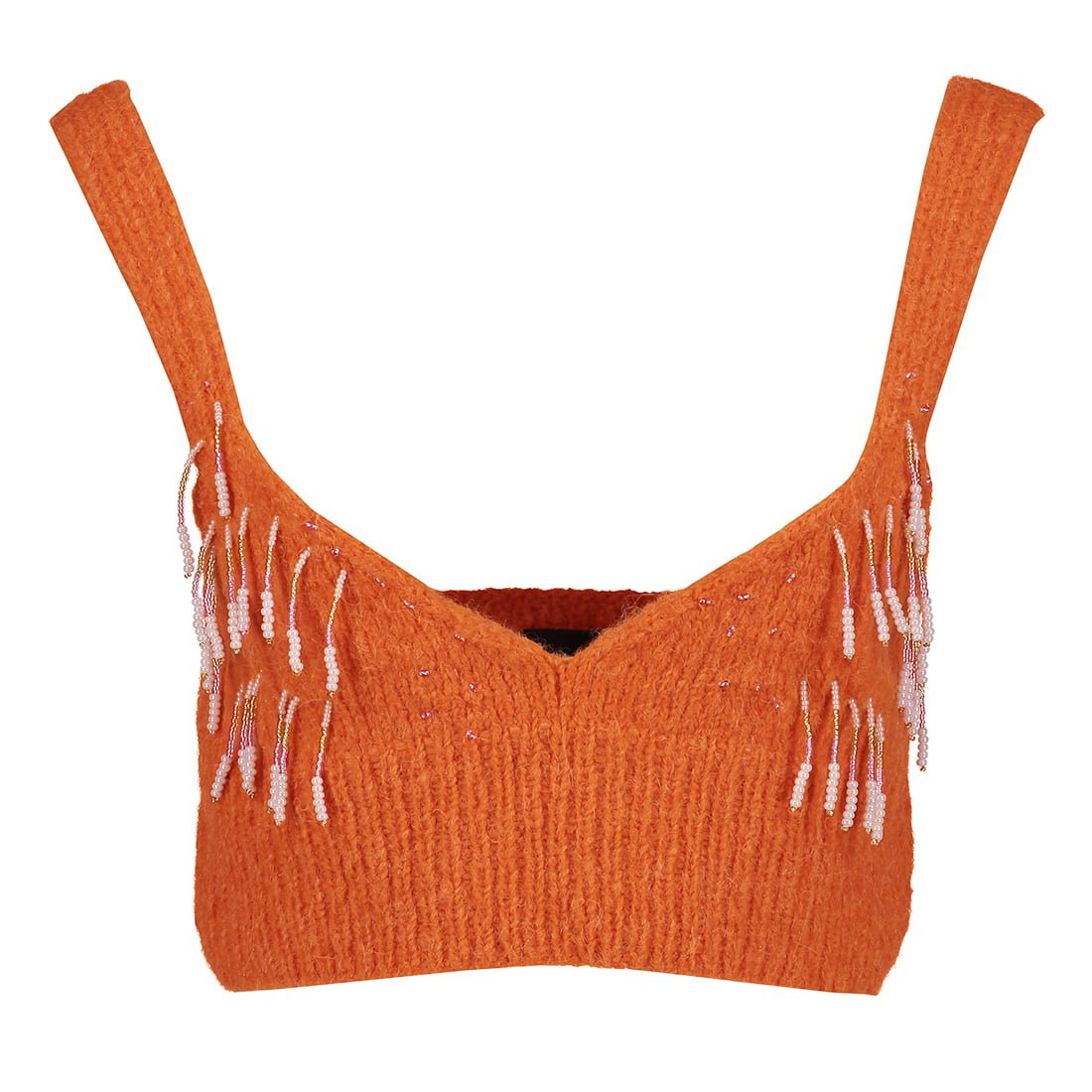 Jersey Knitted Top W/ Beads