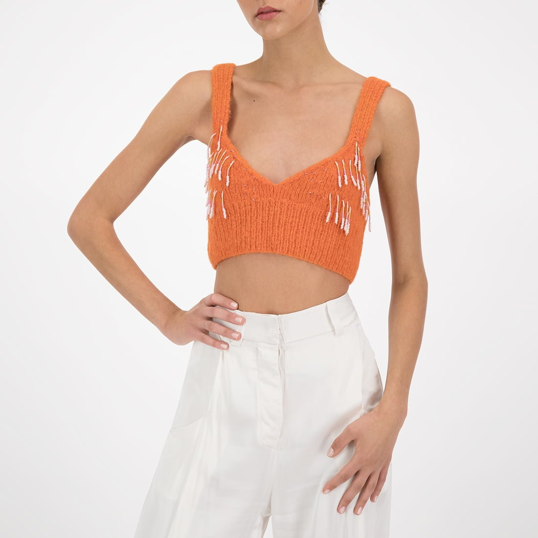 Jersey Knitted Top W/ Beads by Mozh Mozh   Soyrepublica.com